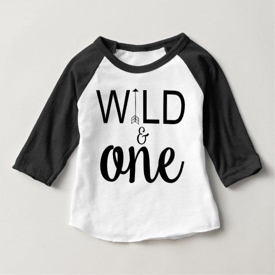 Wild And One Arrow 1st Birthday Raglan Shirt