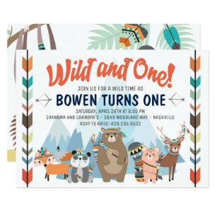 Wild And One Birthday Invitation