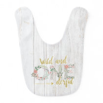 Wild and onederful first birthday baby bib