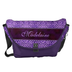 Wild And Purple Cheetah Print For Her Messenger Bag at Zazzle