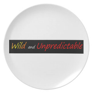 Wild and unpredictable dinner plate