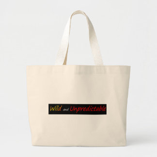 Wild and unpredictable large tote bag