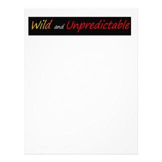Wild and unpredictable letterhead