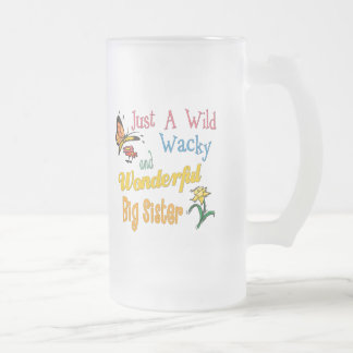 Wild And Wacky Sister Collection Frosted Glass Beer Mug