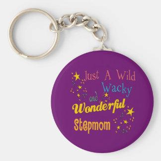 Wild and Wacky Stepmom Basic Round Button Keychain