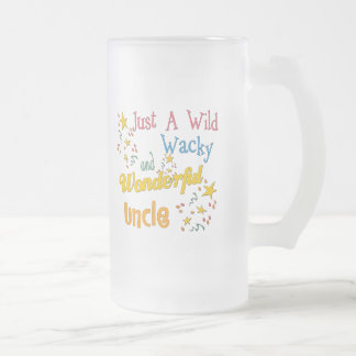 Wild And Wacky Uncle Frosted Glass Beer Mug