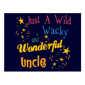 Wild And Wacky Uncle Postcard