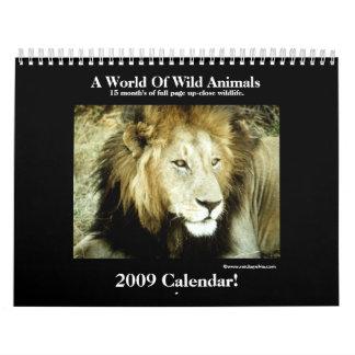 Wild Animal 2009 Calendar