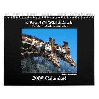 Wild Animal 2009 Calendar! Calendar