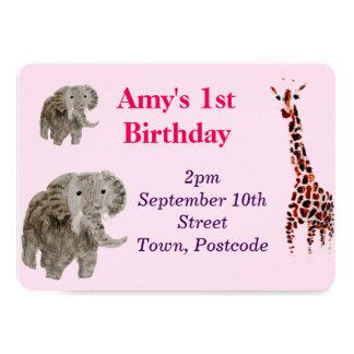 Wild Animal Art 4.5x6.25 Paper Invitation Card