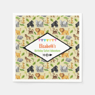Wild Animal Birthday Safari Adventure Napkin