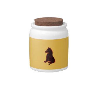 Wild Animal Candy Jar Kitchen Tableware Abstract