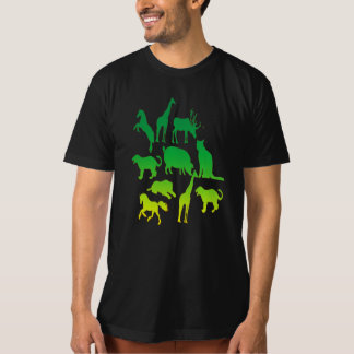 wild animal collage t-shirt design cool gift idea