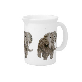 Wild Animal Elephant Art Pitchers