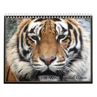 Wild Animal Faces Calendar