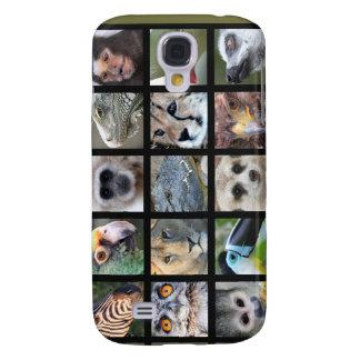Wild Animal Faces -- Mammals Reptiles Birds Galaxy S4 Cover