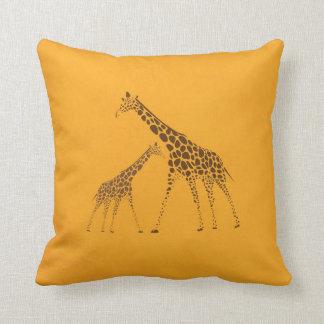 Wild Animal Giraffe Picture Throw Pillow