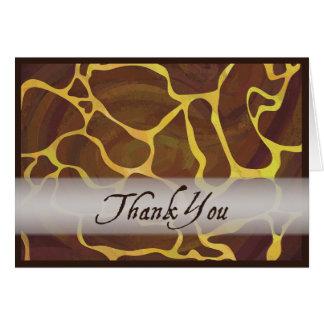 Wild Animal Giraffe Thank You Greeting Card