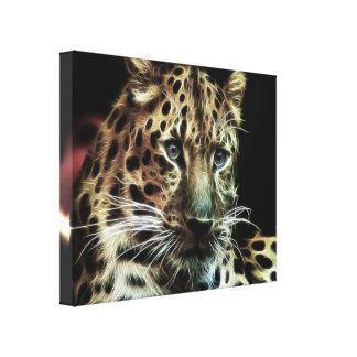 Wild Animal Leopard  Wrapped Canvas