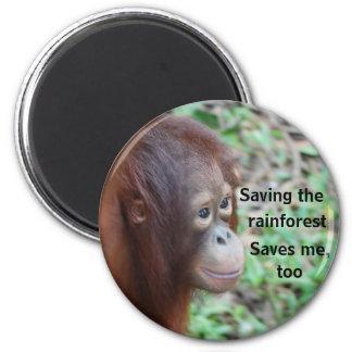 Wild Animal Lifesaving Charity 2 Inch Round Magnet