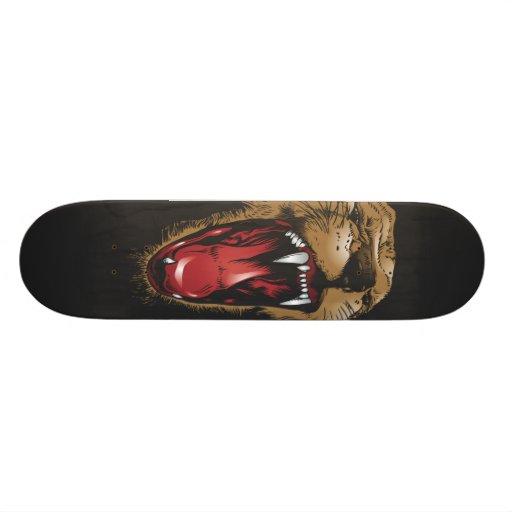 Wild Animal Lion Face Skateboard