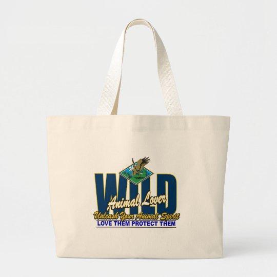 Wild Animal Lover Large Tote Bag