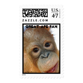 Wild Animal Orangutan Postage Stamp
