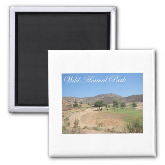 Wild Animal Park 2 Inch Square Magnet