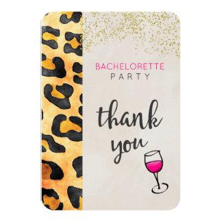 Wild Animal Pattern Bachelorette Party Thank You Card