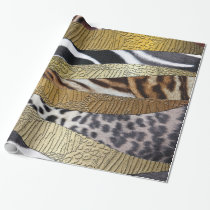 Wild ANimal Print Abstract Wrapping Paper