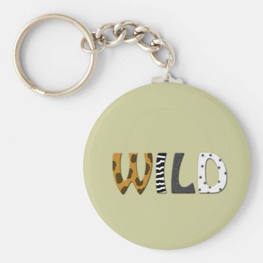 WILD animal print Keychain