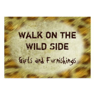 Wild Animal Prints Large Business Card
