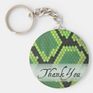 Wild Animal Snake Thank You Basic Round Button Keychain