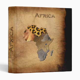 Wild Animal Textures MAP OF AFRICA Binder