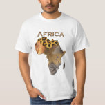 Wild Animal Textures Map of AFRICA Series T-Shirt
