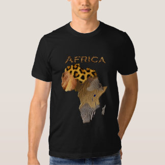 Wild Animal Textures Map of AFRICA Series T Shirt