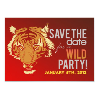 "Wild Animal Themed Party Invite 5"" X 7"" Invitation Card"