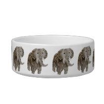 Wild Animal Wildlife Art Elephants Bowl