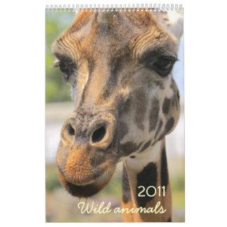 Wild animals 2011 calendars