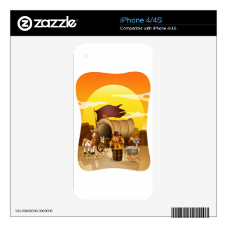Wild animals by the wagon skin for iPhone 4