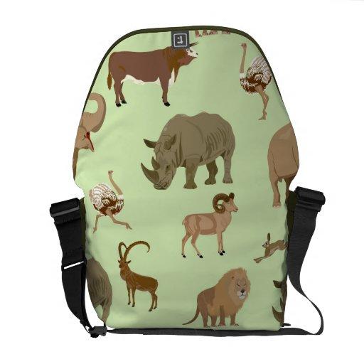 Wild animals courier bag