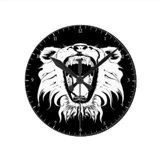 Wild Animal's Cry Round Clock