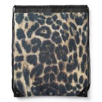 Wild animals drawstring backpack