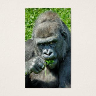 WILD ANIMALS - GORILLAS BUSINESS CARD