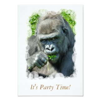 WILD ANIMALS - GORILLAS CARD