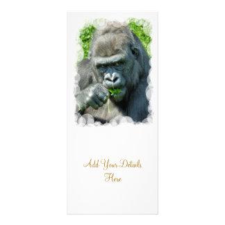 WILD ANIMALS - GORILLAS RACK CARD