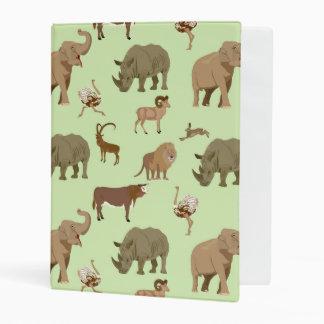 Wild animals mini binder