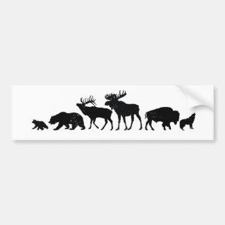 Wild Animals of Yellowstone Bumper Sticker