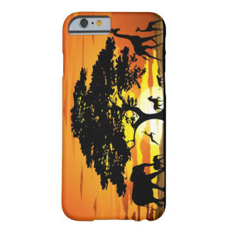 Wild Animals on Savannah Sunset iPhone 6 case