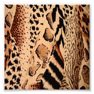 Wild Animals Pattern Photo Art